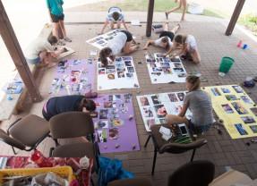 Táborák a pak.. příprava projektů na vernisáž